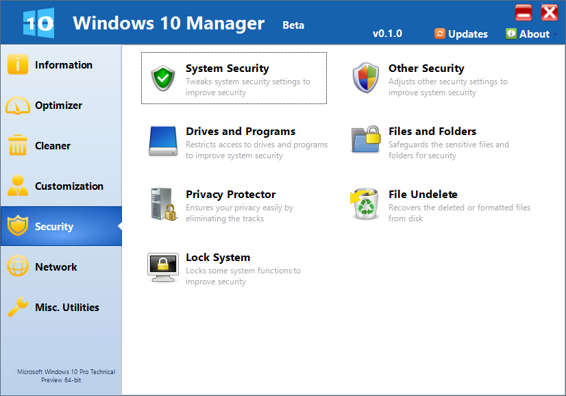Yamicsoft Windows 10 Manager free download